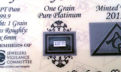 x10 ACB Platinum SOLID BULLION MINTED 1GRAIN PT BAR 99.9 Pure W/certificate