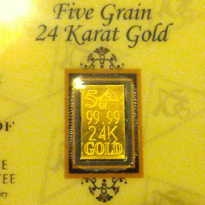 x10 ACB Gold 5GRAIN BULLION MINTED Bars w / certificate of authenticity