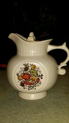 VINTAGE MCCOY SPICE DELIGHT PITCHER COOKIE JAR WITH LID MARKED 202
