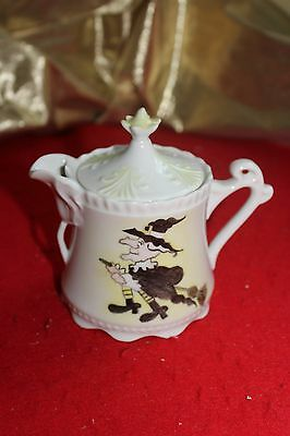 WITCHES BREW  TEA POT COFFEE  CERAMIC  SERVING VESSEL HAND PAINTED