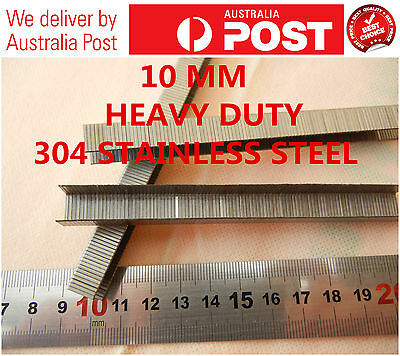 Heavy Duty1000 PCS 304 Stainless Steel  10 MM STAPLE FOR CEILLING TILES ETC