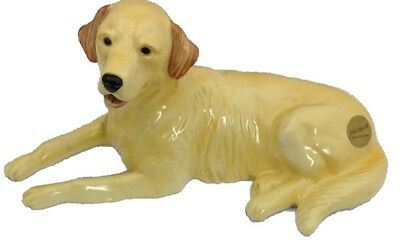 John Beswick JBD54 Labrador Dog - Golden Retriever Lying  ceramic figurines