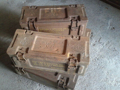 WWII M104 British ammo box.Dated imprinted 1945.Very nice useable condition.RARE