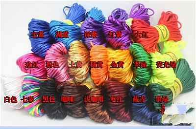 20 meters Chinese knot satin nylon braided rope Braided wire 3mm  25 colour