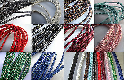 5/10 Meters 5mm PU Silk Braided Leather Cord Bracelet Necklace Making Cord