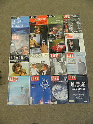Lot of 16 Life & Look Magazines- Key Issues -1968 -1969 -1970 JFK Kennedy Oswald