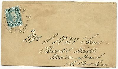 "CSA Scott #11c (AD) on Cover Chattanooga, TN October 25, 1863 ""Rover"" Army VF"
