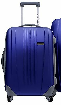 """Traveler's Choice Blue Toronto 21"""" Carry-on Spinner Suitcase Travel Luggage Bag"""