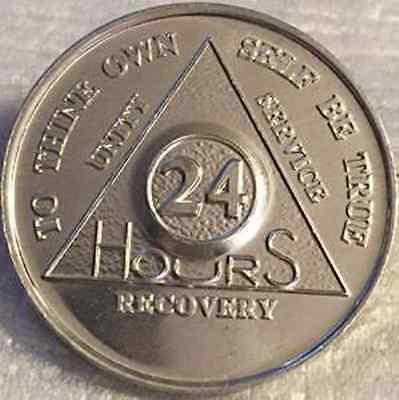 YRS 1-45 Purple/&Ivory AA Anniversary Recovery Coin//Medallion Also 24 hr /& 18 mos