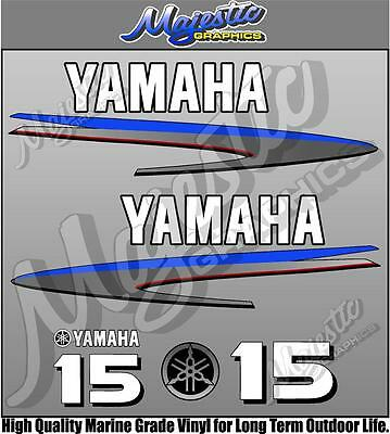 YAMAHA - 15hp - OUTBOARD DECALS