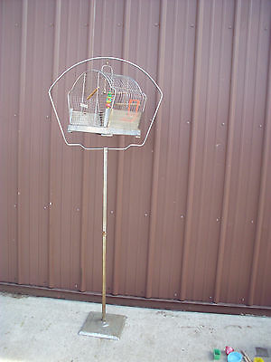 HENDRYX Reliance Antique vintage BIRD CAGE AND STAND  With Accessories