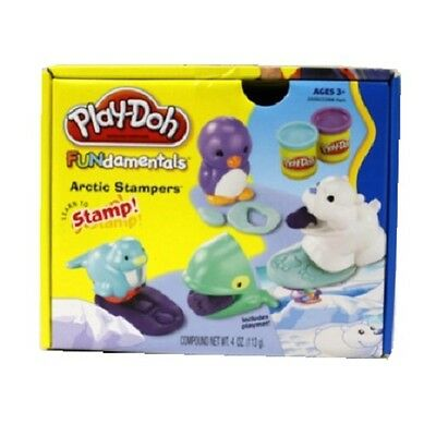 New Hasbro Play-Doh Fundamentals Arctic Stampers 2 Cans 24090 Playdoh