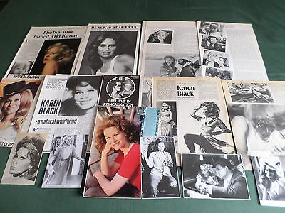 Karen Black- Film Star  - Clippings /cuttings Pack