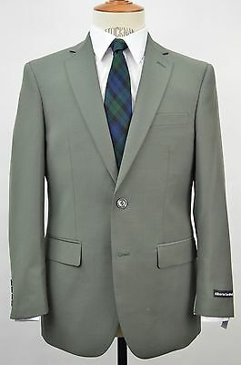 Men's Olive 2 Button Slim Fit Suit SIZE 38R NEW