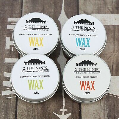 2 The Nines™ Premium Moustache Wax 4 x 30ml Gift Set - 4 Scents