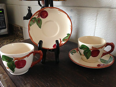8 Franciscan Apple Cups and Saucers California USA Stamp