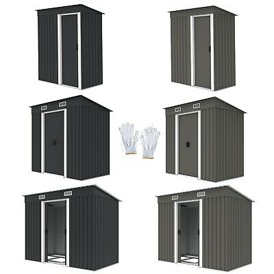 WestWood New Garden Shed Metal Pent Roof Outdoor Storage With Free Foundation