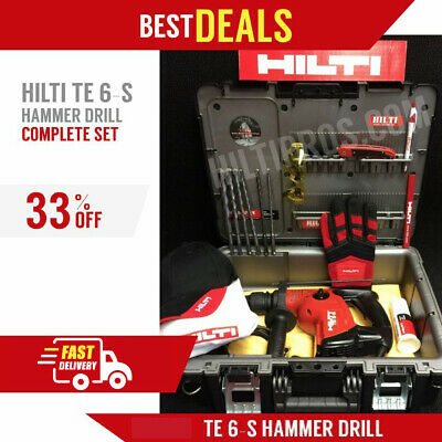 Hilti Te 6-S, Preowned, Free Bits, A Lot Of Extras, Fast Shipping