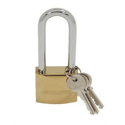 CT2092 50mm Long Shank, Electroplated Padlock Heavy Duty Shackles With 3 Keys