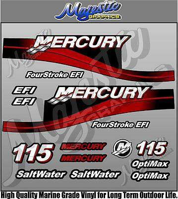 MERCURY 115hp - EFI - OUTBOARD DECALS
