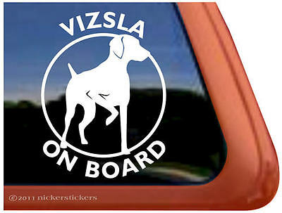 VIZSLA ON BOARD ~ High Quality Vinyl Hungarian Vizsla Dog Window Sticker Decal
