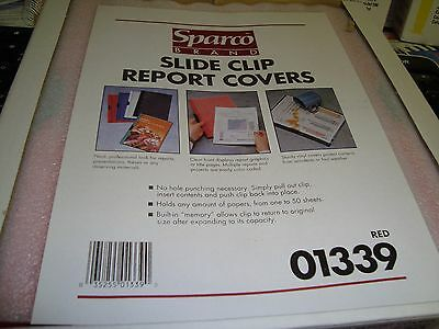 Sparco Brand Slide Clip Report Cover 01339
