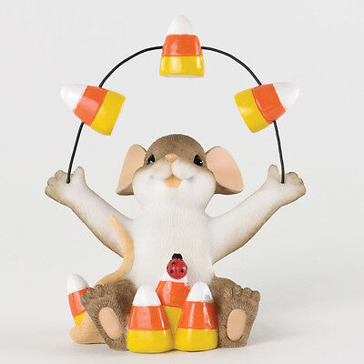 Charming Tails Mouse with Candy Corn Figurine 4034325 Halloween Autumn NEW
