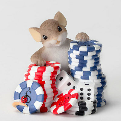 Charming Tails I'm Betting on You Poker Game Mouse  Enesco 4027097 NEW NIB