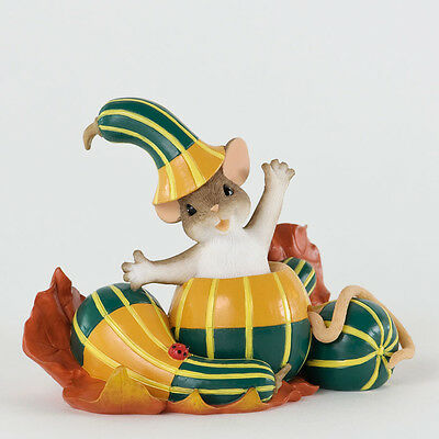 Charming Tails Out of My Gourd For You Mouse Figurine 4027682 NEW Fall Autumn