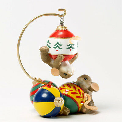 Charming Tails No Matter How You Look At It Mouse Mice Ornament NEW 4034345