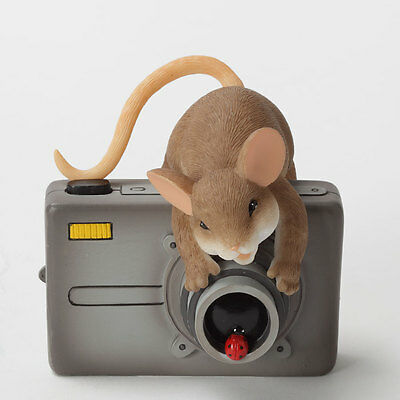 Charming Tails You're My Main Focus Mouse camera Figure 4032998 NEW Enesco NIB