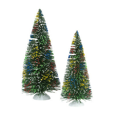 Dept 56 Jolly Sisals Set of 2 Trees 4025360 D56 NEW Christmas Village