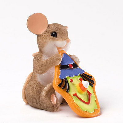 Charming Tails Sweet Witches For A Happy  Halloween Mouse Figurine 4027678 NEW