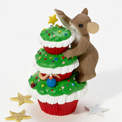 Charming Tails Merry Christmas Cupcakes Figure Enesco 4023663 NEW Mouse