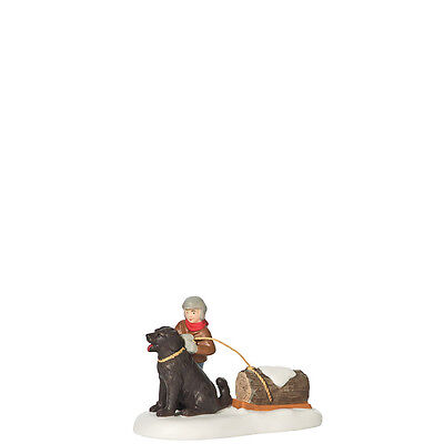 Dept 56 Dickens GETTING THE CHRISTMAS YULE LOG Accessory D56 Village NEW 808884