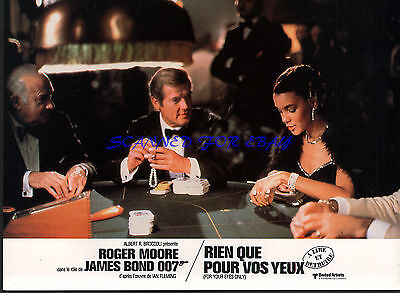 JAMES BOND FOR YOUR EYES ONLY ROGER MOORE IN CASINO ORIGINAL  FRENCH PHOTO