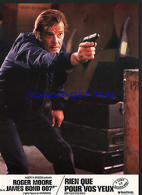 JAMES BOND FOR YOUR EYES ONLY ROGER MOORE IN ACTION! ORIGINAL 1981 FRENCH PHOTO