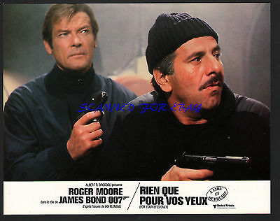 JAMES BOND FOR YOUR EYES ONLY ROGER MOORE TOPOL  ORIG  FRENCH PHOTO