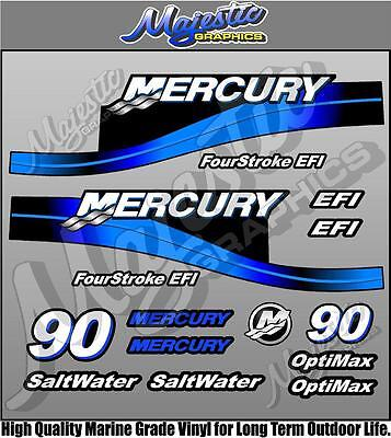 MERCURY 90hp - EFI Saltwater Optimax - OUTBOARD DECALS