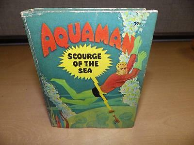 Vintage silver age 1968 Aquaman Scourge Of The Sea Big Little Book hard cover..