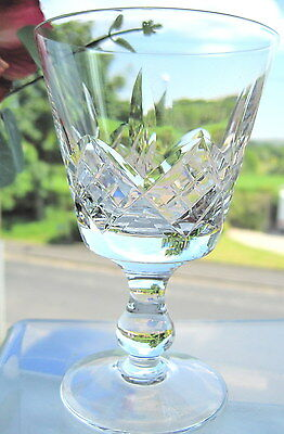 "Stuart Crystal GLENGARRY Wine Glass 4.5"" High x 1 Unsigned"