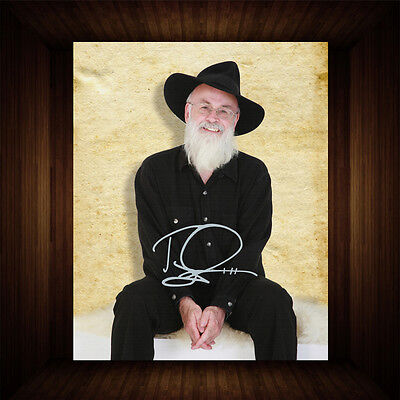 Terry Pratchett Discworld - PP Signed Autographed Framed Photo/Canvas Print