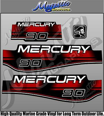MERCURY 90hp - OUTBOARD DECALS