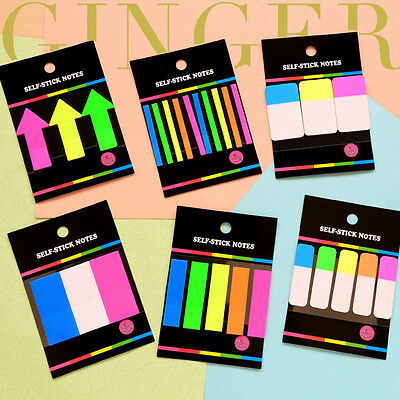 Funny Transparent Sticker Post It Bookmark Point Marker Film Flags Sticky Notes