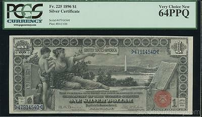AC Fr 225 1896 $1 Silver Certificate PCGS 64 PPQ... Educational!!!