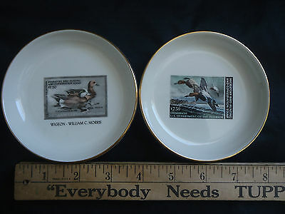 Maine Duck Stamp, Ducks Unlimited Plates Or Coasters,  1982-85, Free Shipping
