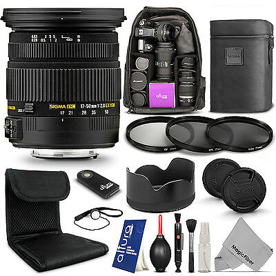 Sigma 17-50mm F2.8 EX DC OS HSM Zoom Lens for Canon EOS Rebel Camera