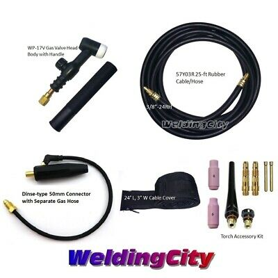 Miller TIG Welding Torch Set 17V 150A 25' Valve Head Air-Cool w/Gift | US Seller