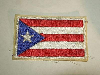 Vintage Puerto Rico U.S. Territory Flag Travel Souvenir Embroidered Sew On Patch