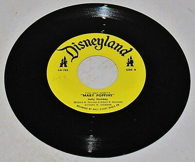 Disneyland Records LG-782 Mary Poppins JOLLY HOLIDAY and I LOVE TO LAUGH 45 RPM